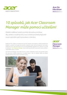 10 způsobů, jak Acer Classroom Manager může pomoci učitelům!