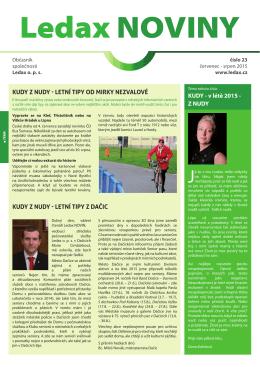 Ledax NOVINY číslo 23, červenec 2015