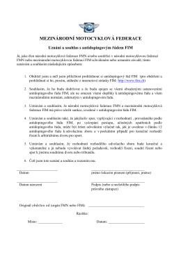 ISDE 2015 - souhlas s antidpoingovým řádem FIM