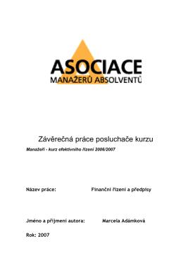 Finanční řízení a předpisy