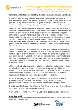 Tisková zpráva k zahájení projektu Z labyrintu násilí