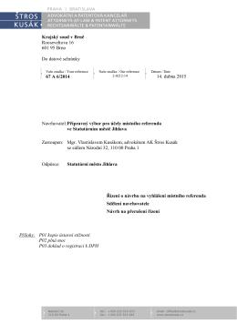 Reakce příprvného výboru na dotazy soudu o aktuálnosti referenda