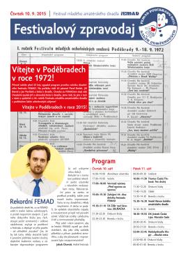 FEMAD 2015 ctvrtek čtvrteční vydání