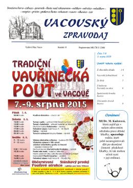 Vacovský zpravodaj č. 7-8/2015
