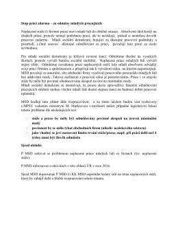 Stop práci zdarma_mimořádný Sjezd MSD 19. 9. 2015, Brno