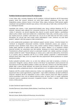 Prohlášení Genderové expertní komory ČR a