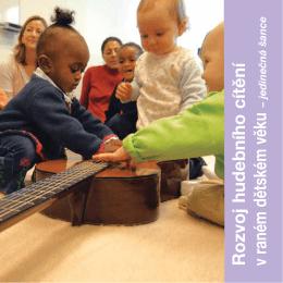 Rozvoj hudebního cítění v raném dětském věku