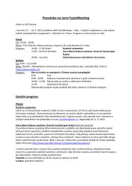 Detailní informace a program