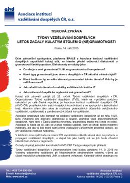 gramotnosti - Asociace institucí vzdělávání dospělých ČR, os