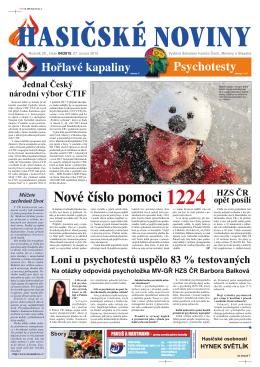 Hasičské noviny č. 4, 27. února 2015