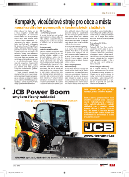jcb power boom - FOCUS MARKETING sro