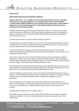 Tisková zpráva – NČKR 2014 – výsledky