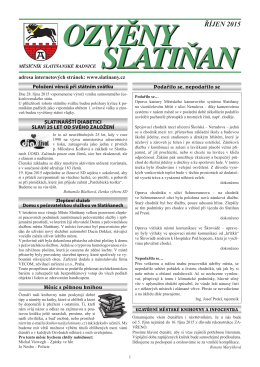 ŘÍJEN 2015 - Slatiňany