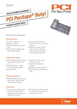 Vysoce flexibilní samolepicí PCI Pecitape ® Butyl