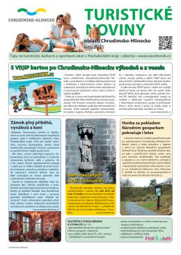Turistické noviny oblasti Chrudimsko-Hlinecko, léto