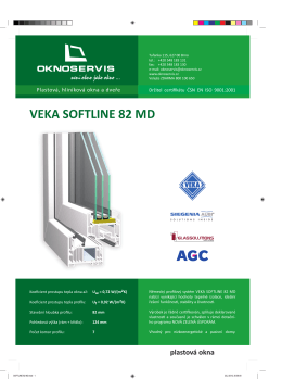 Technický list SOFTLINE 82 MD