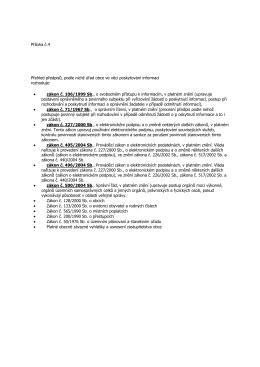 Příloha č.4 Přehled předpisů, podle nichž úřad obce ve věci