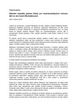 Tisková zpráva Zdeňka Kapitána po jednání české