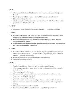 9. 3. 2015 • Informace o místním šetření MěÚ Čelákovice ve věci