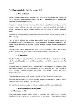 Pravidla pro vlastní ošacení včetně seznamu - ddu