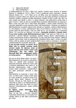 TEXT 2 Melchisedech - Bible v Kapce Vody