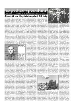 Atentát na Heydricha před 65 lety