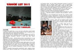 Vánoční list 2015 - Nosislav
