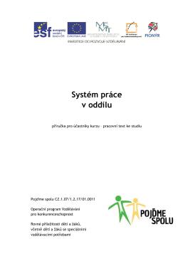 09. System prace oddilu