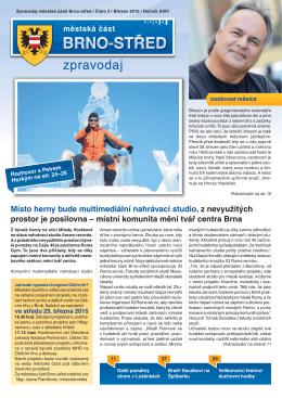 Zpravodaj MČ Brno-střed 3/2015 (březen)