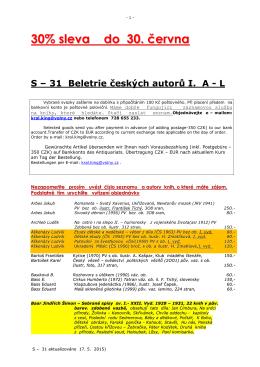 31 Beletrie českých autorů