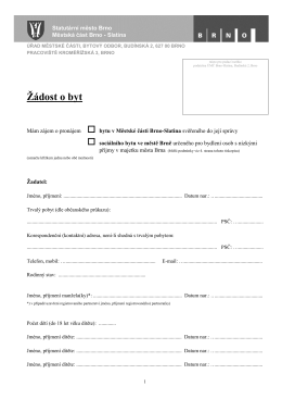 A01.1 - Žádost o byt (žadatel), formát PDF - Brno