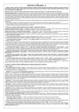 Pokyny k Příloze č. 2 za zdaňovací období (kalendářní rok) 2015