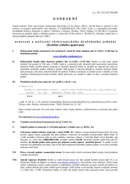 Usnesení 167 EX 3227/09-906