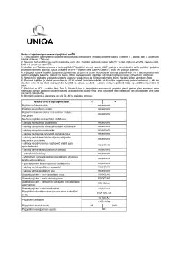 Smluvní ujednání a prohlášení pojistníka