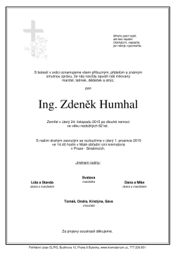 Ing. Zdeněk Humhal