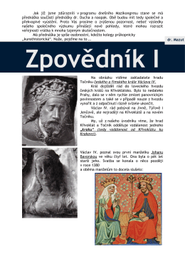 (Zpovědník I) - Hrady Točník a Žebrák
