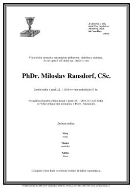 Parte PhDr. Miloslav Ransdorf, CSc