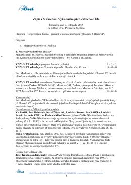 Zápis 5.zasedání konaného dne 7.11.2015