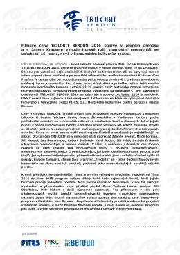 Tisková zpráva Trilobit Beroun 2016