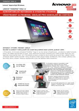 konvertibilní notebook s vysokým výkonem