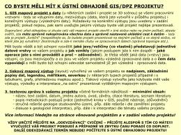 Závěrečné doporučení před obhajobou projektů