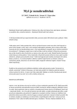 Myš je nenahraditelná - Ústav molekulární genetiky AV ČR, vvi