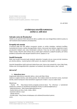 Pravidla soutěže Euroscola 2015(pdf538KB)