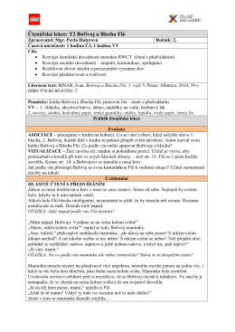 Čtenářská lekce: T2 Bořivoj a Blecha Fló