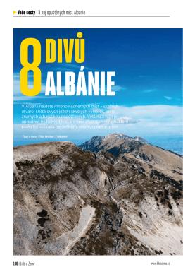 vaše cesty I 8 nej opuštěných míst Albánie