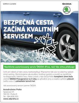 Od 12.10 do 30.11.2015 probíhá zimní servisní akce