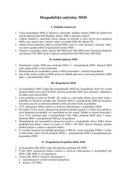Hospodářské směrnice MSD