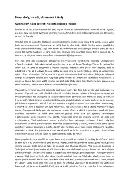 více - Gymnázium a Střední odborná škola Rájec