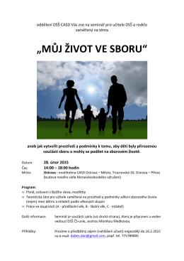 Dsš 01_Můj život ve sboru - Moravskoslezské sdružení CASD