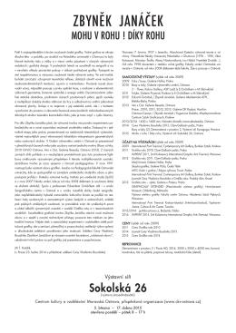 Katalogový list k výstavě
